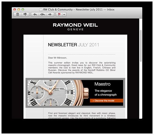 Raymond Weil Newsletter