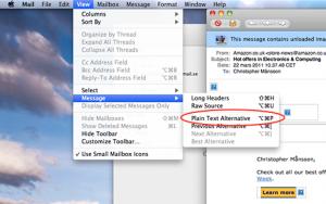 Apple Mail textformat